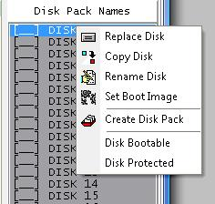 Z80Emu Disk Pack Commands
