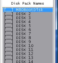 Z80Emu Disk Pack Disk Names List